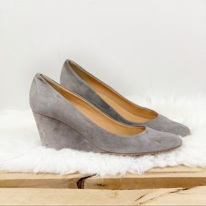 J. CREW Martina Suede Wedge